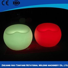 Remote control inflatable led cube chair