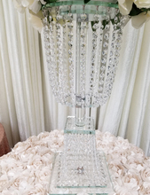 60cm tall crystal wedding decoration flower stand table centerpieces