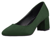 china supplier Green middle heel pump dress shoes classic office lady work shoes comfortale mary jane