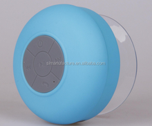 IPx7 bluetooth wireless shower speaker with LED support all smart phone