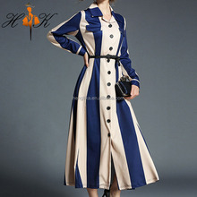 HTK hot selling official dresses for women turn down collar gown dresses