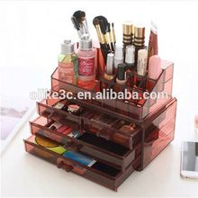Transparent Makeup Beauty Drawer Eyeliner Display Acrylic Desktop Large Cosmetic Organizer