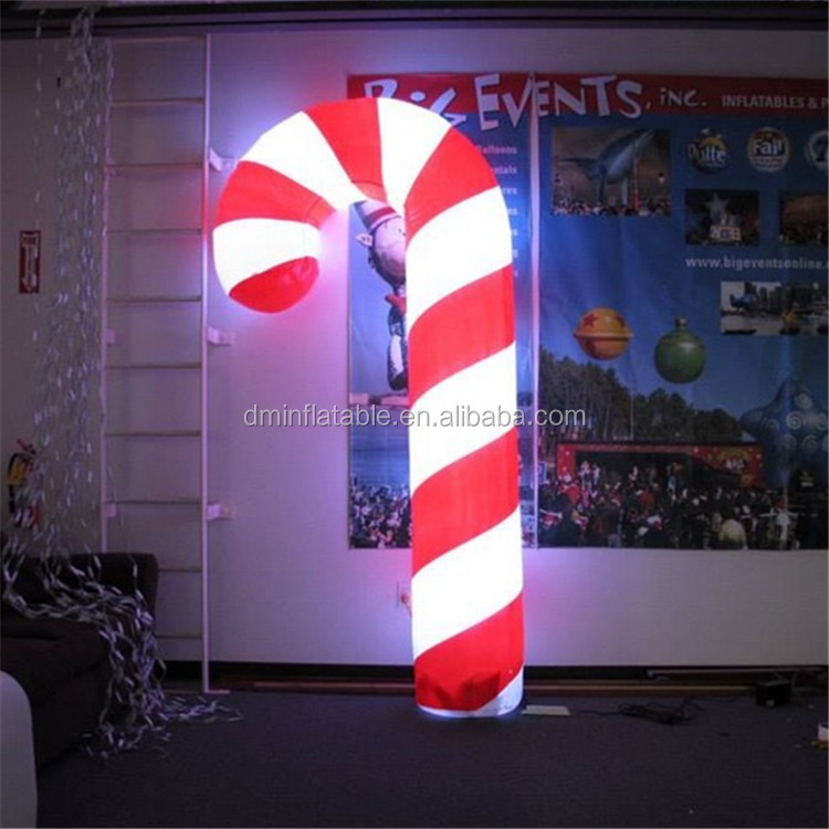 Christmas Decorations Air blown inflatable Christmas Candy Stick/ Candy Cane with LED light