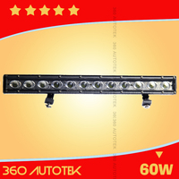 Cheap price and Super Bright 60w C ree Single Row Led Light Bar,Ip68,Ce,Rohs For 4wd,Offroad,Atv,Truck