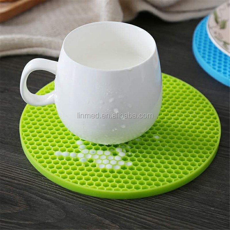 Placemat Silicone Waterproof Dish Drying Mat Heat Resistant Kitchen Mat