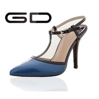 Blue closed toe fashion shoe high heel for girls buy online