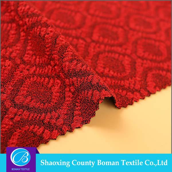 China suppliers Best selling Fashion Elastic double knitted jacquard fabric