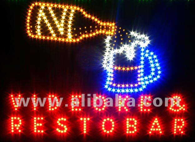 LED electronic sign videoke bar beer flowing