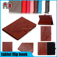 3D embossing butterfly flower pattern pu leather flip book wallet stand cases for ipad 6 5 4 3 2 mini 1 2 3 4 pro 9.7