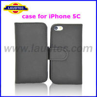 Laudtec new product high quality best price wallet case for iPhone 5C