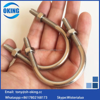 Stainless steel 316 u-bolt with nut