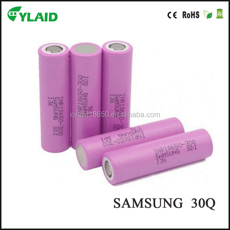 vape 2016 18650 battery 3000mah 30q for samsung 15a 18650 rechargeable batteries