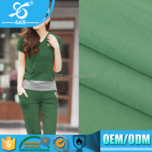 Wholesale 40S combed cotton green dyed single jersey fabric