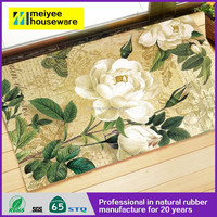Custom Design Green Plant Door Mat, anti slip natural rubber Animal mat,polyester softtextile Green Plant door mat