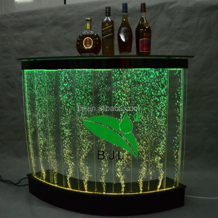 Color changing LED luminous furniture acrylic bar counter Led Bar Table