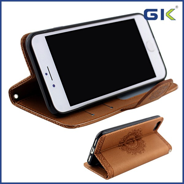 [GGIT] Card Solt Holder With Pressure Change Picture Holster For IPhone 7 Flip Cover