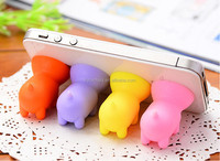 Pinky Cute Pig shape silicone smart phone Desktop stand Holder