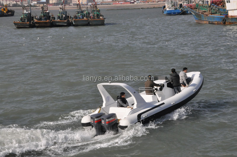 Liya 7.5 m China rib hypalon inflatable boat builders