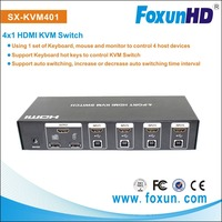 Auto KVM hdmi&usb Switch (keyboard + video + mouse), support auto switching