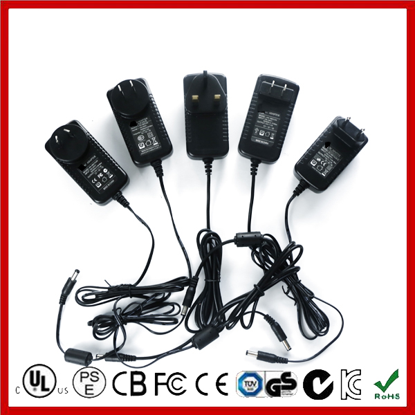 Advanced design CE RoHS CETL SAA GS FCC USA Approved 12V 2A DC Power Supply 24W AC DC Power Supply for LED LCD
