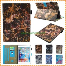 Wholesale Marble Pattern Leather Flip Stand Wallet Case For iPad New 9.7""