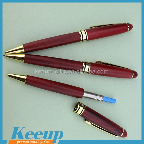 Quality custom logo printed promotional wooden metal ballpoint pens