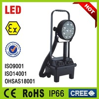 aluminium alloy extendable pole optional explosion proof portable led lighting