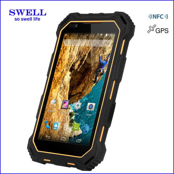 "S933 7"" IP68 waterproof 3G rugged tablet 1d/2d barcode scanner fingerprint scan lock"