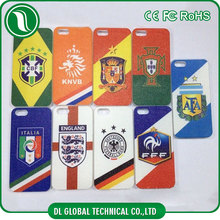 trending world cup football team logo design and national flag pc+pu leather prinitng case for iphone 6