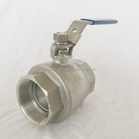 Standard Medium pressure manual ball valve DN20 water valve Stainless steel 2pc ball valve