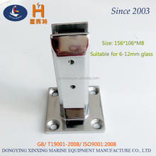 Chinese supplier square spigots 2205 stainless steel deck mount pool fence glass clamp