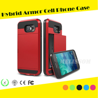 Top Quality With Card Slot Armor Protective Phone Case for samsung gagalxy s7/ s7 edge/ s6 edge/ s6/ s5