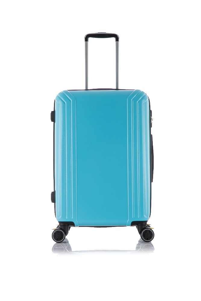 Durable funny ABS PC leaves king luggage with retractable luggage handles