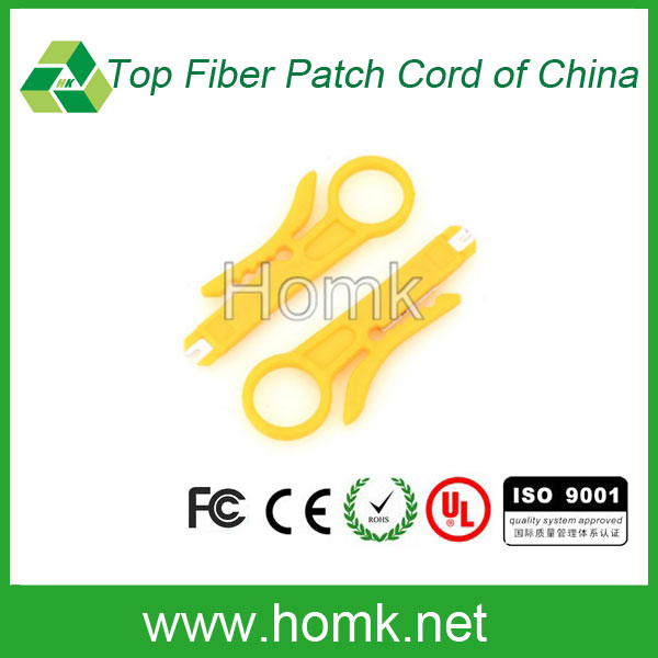 Good quality Yellow Fiber Optic cable stripper network wire crimping plier Fiber Optic Stripper
