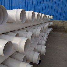 clean pvc plastic pipe for water supply