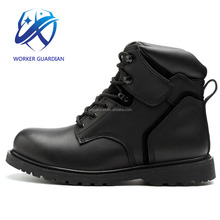 Hot Selling Black Genuine Cow Leather Handmade Shoe Goodyear Welted Safety Shoes En 20345 S3