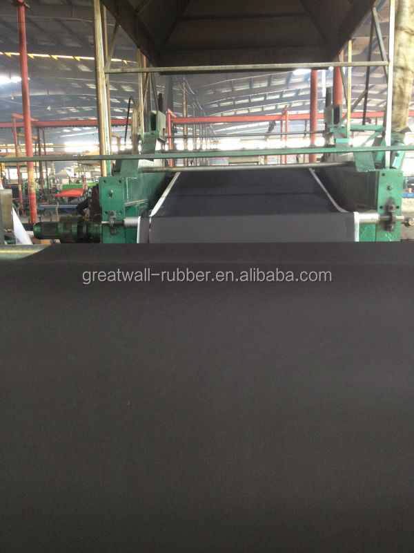 4mm cow mat rubber sheet with 1 player EP 100 insertion fabri finish impression surface