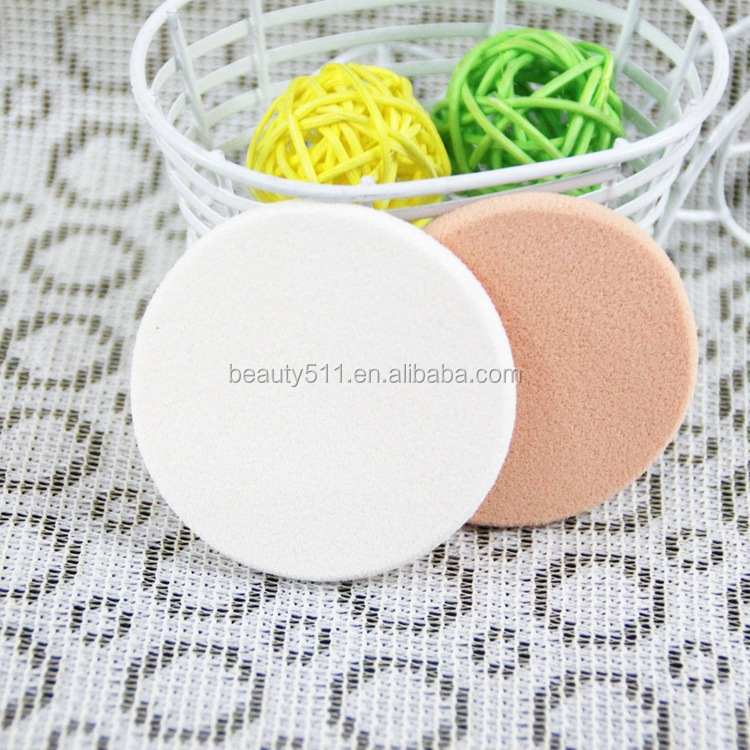 Wholesale High quality 2pc Dry Wet Dual purpose Latex Round Cosmetic powder puff