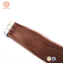 Wholesale 100% Indian Virgin Remy Human Hair all color PU weft thin Skin Weft double sided tape huamn hair extension