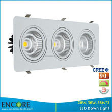 ENCORE 30W*3 COB LED Downlight, 0-10V Dimmable LED Downlight with IES files