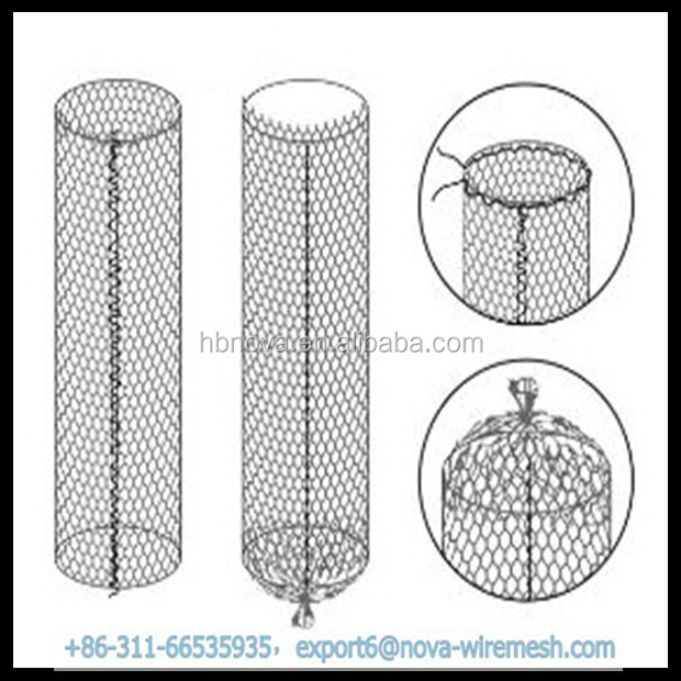 Sack gabion cage / stone bag for sale
