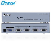 Factory price 500mhz monitor splitter 4 Port VGA Splitter 15 pin 1 input 4 output Guangzhou China