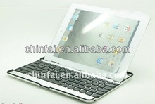 Ultrathin for iPad Bluetooth Wireless Keyboard Aluminum Cover Case with Stand for iPad 4 / 3 / 2