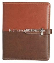 Fashion pu leather notebook cover with Pen for Gift