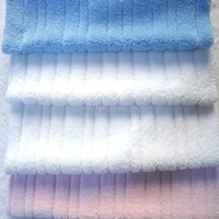 High Quality fabric material 100% polyester strip coral fleece dyed for blankets Coral Fleece
