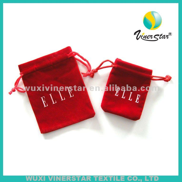 High quality velvet bags and pouches ,wholesale eco-friendly velvet pouch ,red velvet pouch