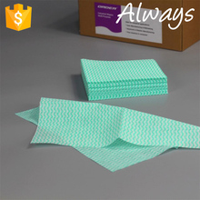 Daily use soft absorbent mesh wave printing nonwoven kitchen Cloth For Cleaning 1/4 quarter-fold