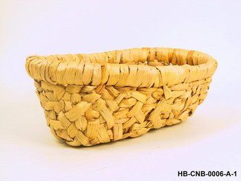 Water Hyacinth Fruit Basket In Natural Colour