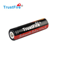 TrustFire high discharge rate cells rechargeable li-ion battery 18650 3.7 2400mah with protect circuit board