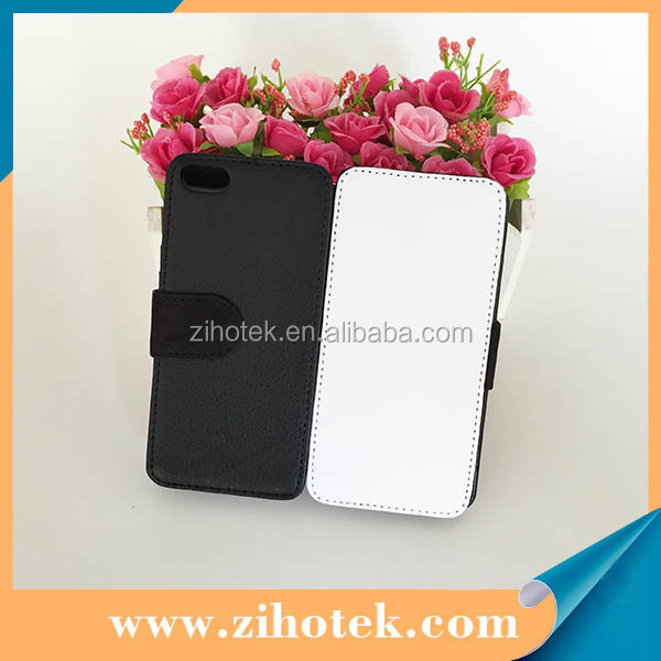 Hot sale blank leather sublimation phone case for iPhone 5C with white fabric